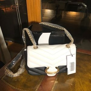 Handbags - Ladies BLACK&WHITE SMALL SHOULDER PURSE